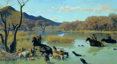 Eugenio Cecconi (Livorno 1842 – Firenze 1903) Colpo di grazia, olio su tela