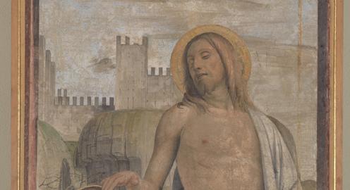 Bramantino, Noli me tangere, 1498-1500 circa, Milano, Castello Sforzesco, Civiche Raccolte d'Arte Antica - Particolare