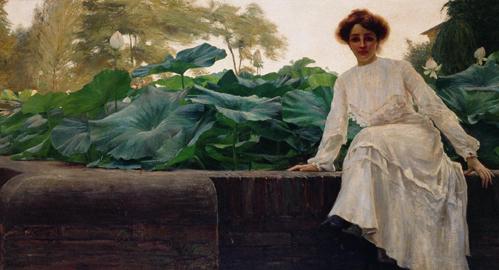 Amedeo Bocchi, Fior di loto, 1903, olio su tela, 125x258 cm