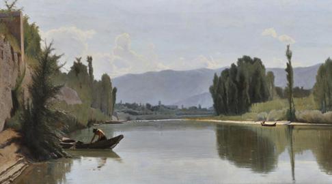 Odoardo Borrani: L'Arno a Varlungo
