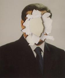 Adalberto Abbate, SELF-PORTRAIT, 2011, stampa fotografica danneggiata, courtesy galleria Francesco Pantaleone