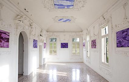 GiovanniFrangi, Mappe, 2012, tecnica mista su tela, presso Villa Morosini