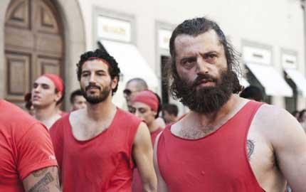 Guido Caprino e Francesco Scianna sul set