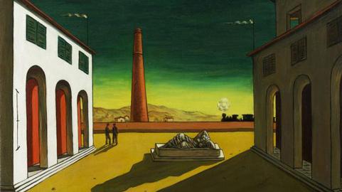 Giorgio de Chirico Piazza d'Italia, 1951 Olio su tela, 43,5 x 56,5 cm Inghilterra, Collezione privata