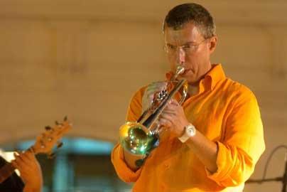 Il trombettista Nello Salza