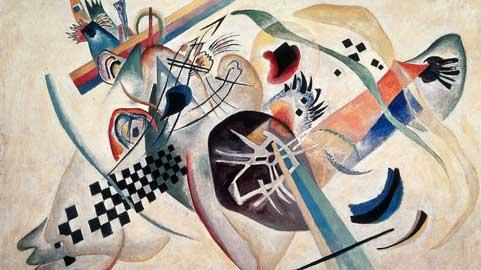 Wassily Kandinsky, Composizione in bianco I, 1920, olio su tela, San Pietroburgo, Museo di Stato Russo © Wassily Kandinsky, by SIAE 2012