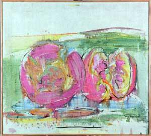 Attilio Forgioli, Frutti, 2011, olio su tela, 90x100 cm