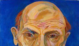 Maxim Kantor,Ritratto di Lenin, 2001, 120х120 cm, Olio su tela, Collezione privata