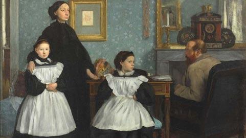 La famiglia Bellelli (Ritratto di famiglia), 1858-1869, olio su tela; 200x250 cm, (RF 2210), © RMN (Musée d'Orsay) / Hervé Lewandowski  - Réunion des Musée Nationaux/ distr. Alinari