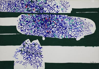 Antonio Sanfilippo: Senza titolo, 1963. Tempera su tela, cm 70 x 100 Agrigento, collezione privata