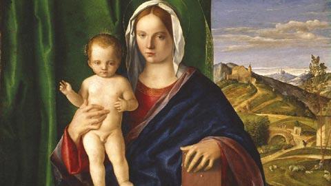 Giovanni Bellini, Madonna con il Bambino, 1509 olio su tavola, cm 84.8 x 106 Detroit, Detroit Institute of Arts