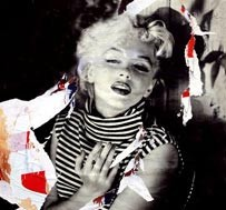 Mimmo Rotella, Love Love Marilyn, 2004, decollage, 80 x 60 cm