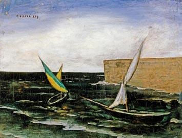 Carlo Carrà: vele nel porto