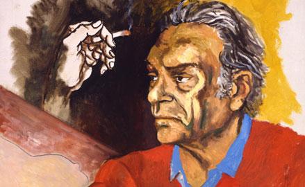 Renato Guttuso, Autoritratto, particolare