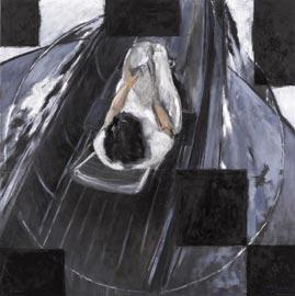 Roberto Mangú, Mar Adentro – étude, 2011, olio su tela, 150 x 150 cm