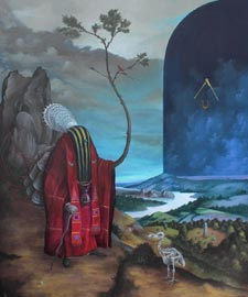 El Gato Chimney, Luce silenziosa, 2012, Acrilico Tela, 50x60cm