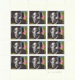 Francobollo di Marcello Diotallevi - 70 years-  del valore di 1,40 €, creato nel 2012