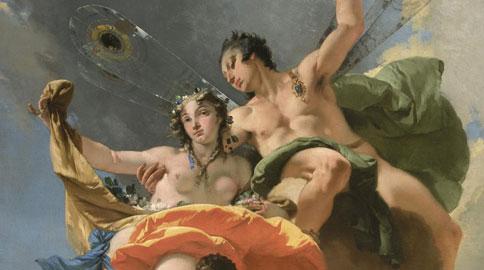 GiambattistaTiepolo, Zefiro e Flora (particolare)