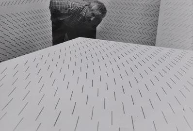 Ugo Mulas, Mario Nigro, 1970, 24 x 30 cm, Courtesy Galleria M&D Arte, Gorgonzola