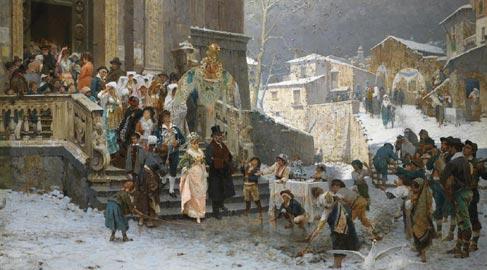 Giacomo Di Chirico, La sposa del prefetto – Olio su tela, collezione privata