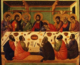 Duccio di Buoninsegna,Ultima Cena, Siena, Museo dell'Opera