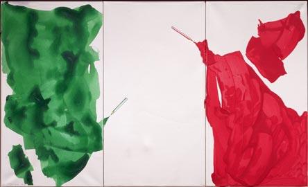 Giuliano Della Casa, Senza titolo, 2013, tecnica mista su carta, cm 66 x 110 © Photo Carlo Vannini