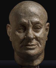 Jacques Lipchitz: Ritratto di Curt Valentin, scultura in gesso patinata