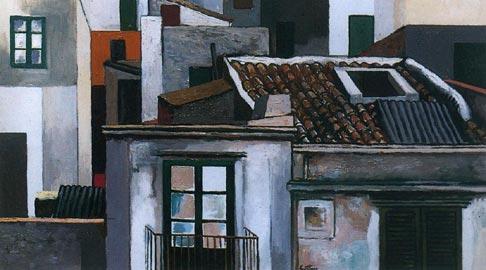 Renato Guttuso: Case di Palermo, 1976