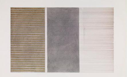 Sean Scully, Horizontals #1, 1975. Acrylic, tape, ink and graphite on paper, 21 3/4 x 29 3/4 inches. Courtesy Neo Neo Inc, New York. Photo © Sean Scully