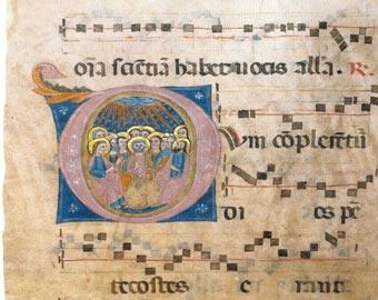 Guardiagrele Museo di Santa Maria Maggiore foglio staccato Antifonario Pentecoste