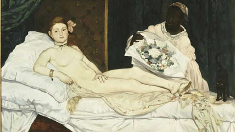 Manet, Olympia, 1863, Olio su tela, 130 x 190 cm, Parigi, Musée d'Orsay, © Musée d'Orsay, Dist. RMN-Grand Palais / Patrice Schmidt