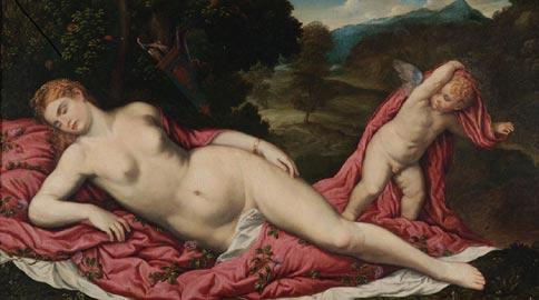 Paris Bordone: Venere dormiente. Collezione G. Franchetti Galleria Giorgio Franchetti alla Ca' d'Oro