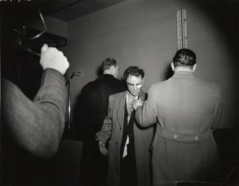 "Weegee: Anthony Esposito, Accused ""Cop Killer,"" January 16,1941. Gelatin silver print © Weegee/International Center of Photography International Center of Photography"