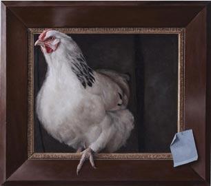 Dennis Møgelgaard, COCCODE', Olio su tavola – 52 x 58 cm, 2013