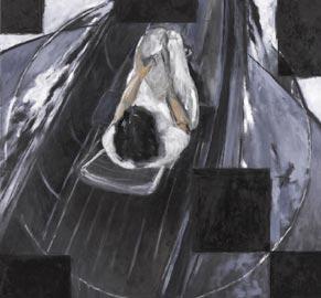 Roberto Mangú, Mar Adentro - étude, 2011, olio su tela, 150 x 150 cm