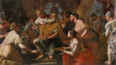 Mattia Preti, Feast of Solomon, olio su tela, Collezione privata, courtesy Whitfield Fine Arts London
