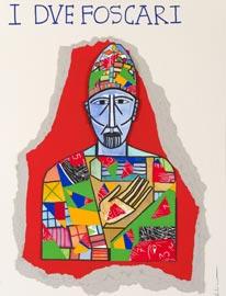 Mimmo Paladino, manifesto per il Teatro dell'Opera di Roma - I due Foscari