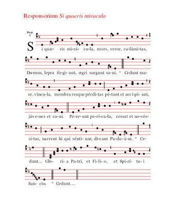 Responsorium Si quaeris miracula