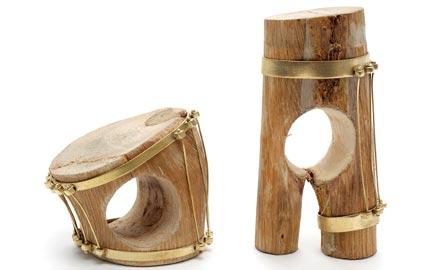 DANIA KELMINSKY, anelli legno, ottone