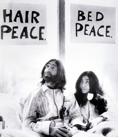 Yoko Ono, John Lennon, Bed-In for Peace, Performance, Amsterdam, 1969 Courtesy Fondazione Bonotto