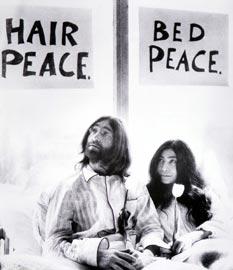 Yoko Ono, John Lennon, Bed-In for Peace, Performance, Amsterdam, 1969 Courtesy Fondazione Bonotto