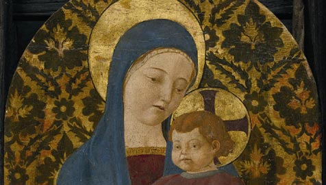 Paolo Uccello, Madonna col Bambino,Collezione privata, particolare