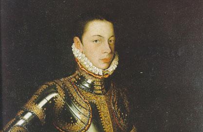 Alonso Sánchez Coello (Benifayó, 1531 – Madrid, 1588), Ritratto di Alessandro Farnese nell'armatura, Parma Galleria Nazionale