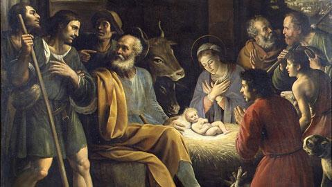 Giuseppe Vermiglio, Natività e adorazione dei pastori, olio su tela, 230 x 250 cm