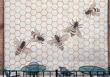 Jesse Graves, Honeybee, mud graffiti