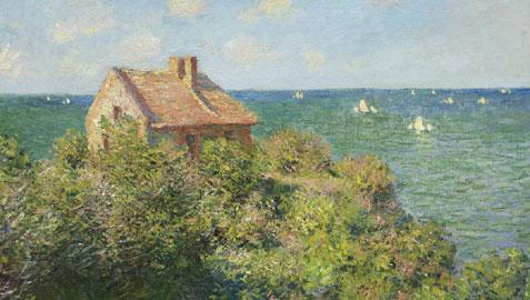 Claude Monet, La casetta del pescatore sugli scogli, Varengeville, 1882 olio su tela, cm 60,6 x 81,6 Boston, Museum of Fine Arts