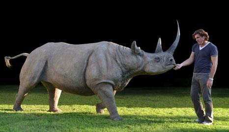 Michele Vitaloni, Colossus, Rinoceronte nero, 2010