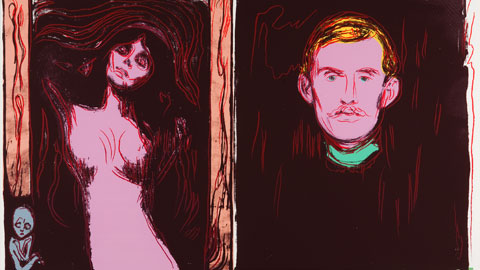 Andy Warhol Self-Portrait with Skeleton's Arm (After Munch), 1984 Screenprint on Lenox, cm 81,30 x 101 Museum Board © The Andy Warhol Foundation for the Visual Arts Inc. by SIAE 2013