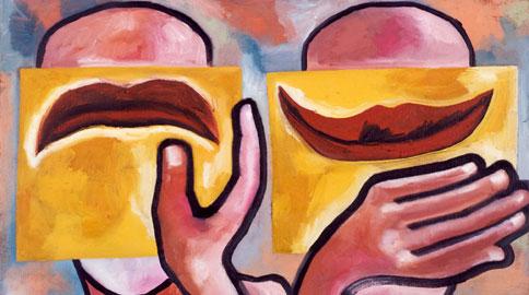 Here and Now, 2004, cm. 76,2x101,6, olio su tela, Credits fotografici: Beth Phillips e Adam Reich