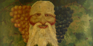 Dipinto su tavola del pittore Natale Amica, presente negli anni Trenta nella cantina del poeta Antonio Ungaro - © Bit Culturali